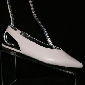 H&M lavender man made pointed toe slingbacks 7 38